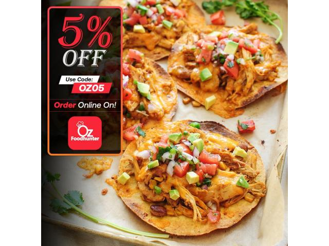 Grab your tasty Mexican dishes at Zambrero Ashmore get - 5% off - 3