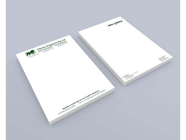Business stationery printed on 100% recycled papers by Sustainable Printing Co. - 1