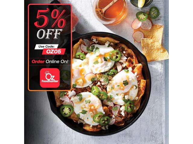 Grab your tasty Mexican dishes at Zambrero Stockland Townsville get - 5% off - 2