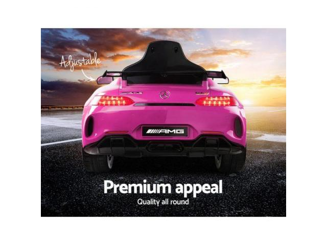 Kids Ride On Car Mercedes Benz AMG GT R Electric Pink - 2
