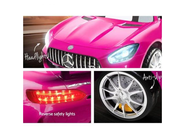 Kids Ride On Car Mercedes Benz AMG GT R Electric Pink - 3