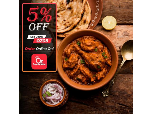 Grab your tasty Indian dishes at Muskaan K Indian Gourmet get - 5% off - 2