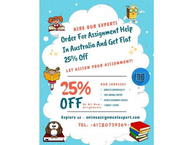 Order For Assignment Help In Australia And Get Flat 25% Off - 1