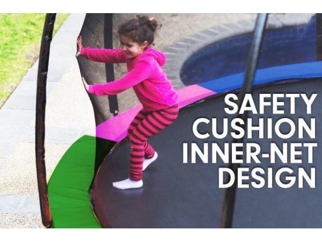 Kahuna 6 ft Trampoline with Rainbow Safety Pad - 2