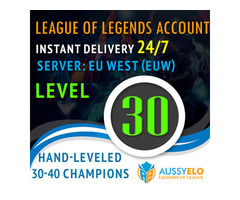 League of Legends Level 30 Account For Sale