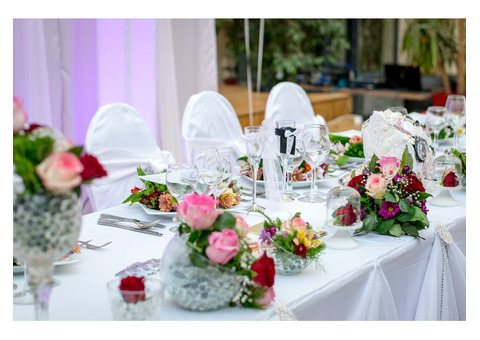 Wedding hire package perth for Au jardin wedding package