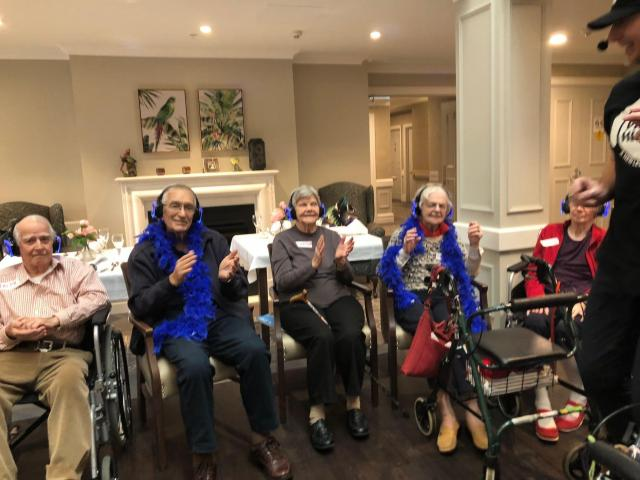 Hire Silent Disco Aged Care Programs with Party Higher - 1