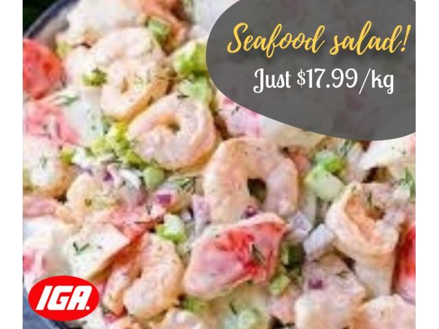 This Monday, fall in love with our Deeelicious seafood salad! - 1