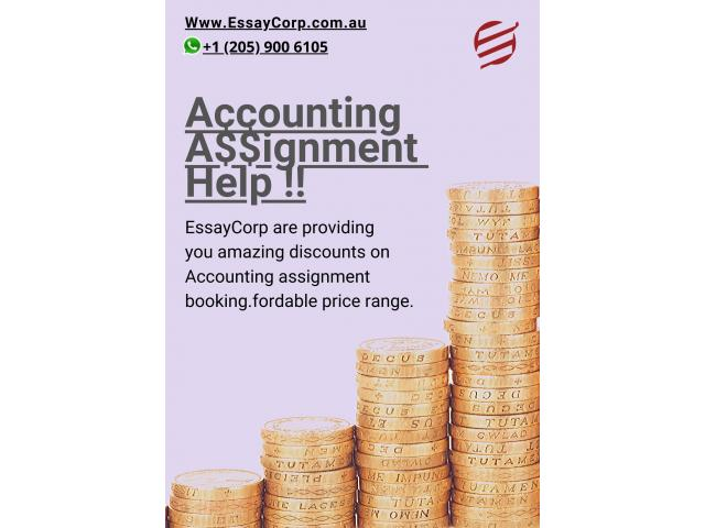 Book six Acconting assignments and pay just for five - 1