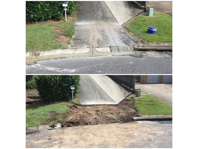 Concrete removal and driveway preparation - Rogers Little Loaders. - 1
