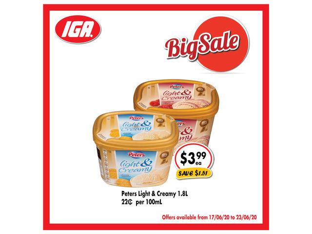 Grocery item For Sale IGA Ravenswood - 1