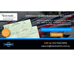 Get Roadworthy Certificates in Melbourne From Licensed Tester