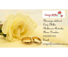 Find Your Marriage celebrant Here - Contact Criag Miller