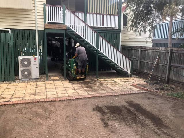Re-Turfing project on 24 June in Oxley - Rogers Little Loaders. - 2