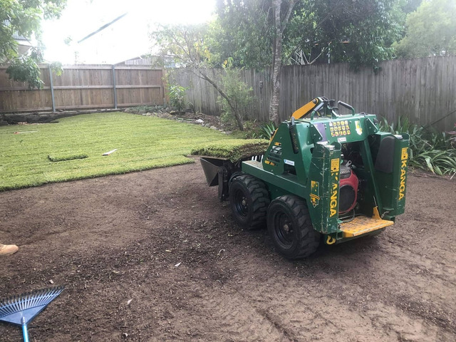 Re-Turfing project on 24 June in Oxley - Rogers Little Loaders. - 5