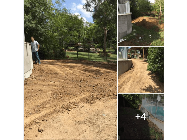 Concrete slabs lifted, busted and removed  with ease on June 23, 2018. - 2