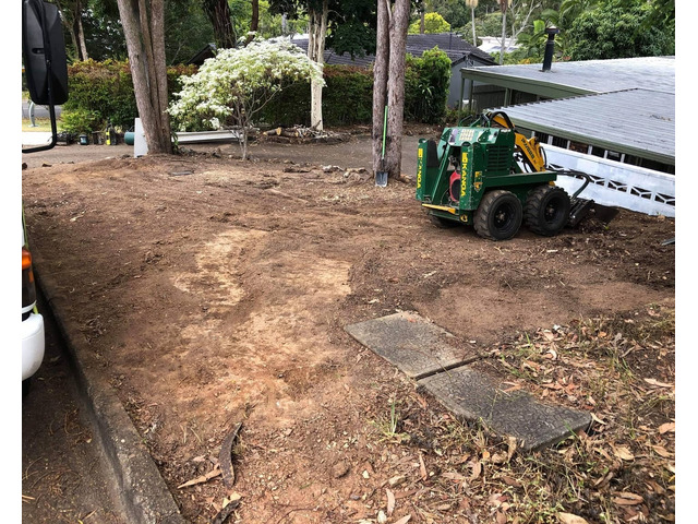 Mulching and turfing on June 14 at Fig Tree Pocket - 1