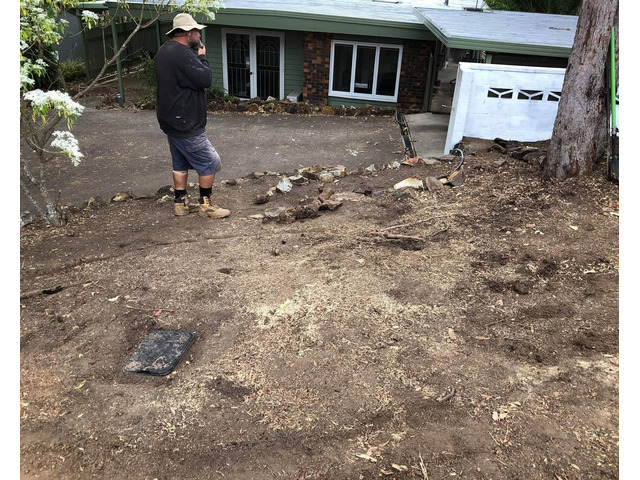 Mulching and turfing on June 14 at Fig Tree Pocket - 2