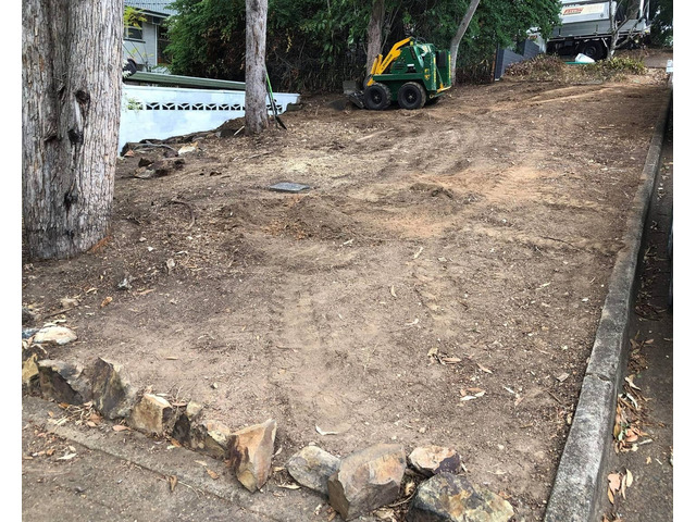 Mulching and turfing on June 14 at Fig Tree Pocket - 3