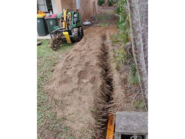 Electrical Cable Trenching on April 12 - Rogers Little Loaders. - 1