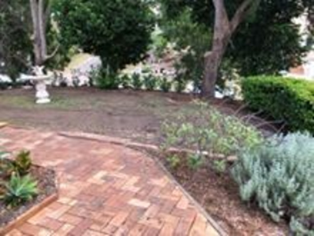 Returfing and PavingProject -  Frontyard and side entrance - 4