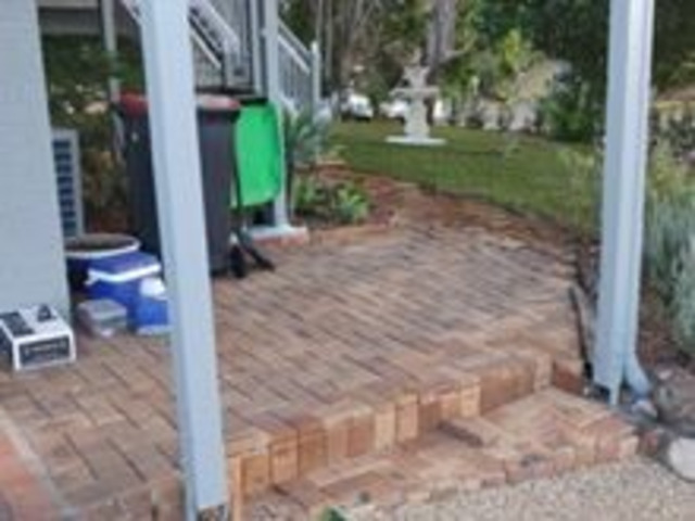 Returfing and PavingProject -  Frontyard and side entrance - 5