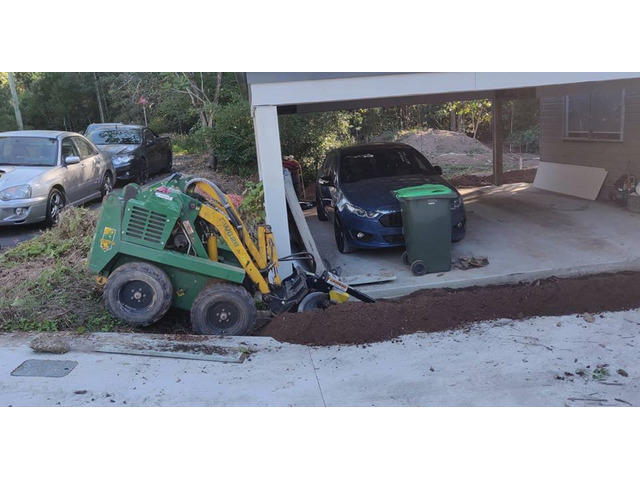 Toowong Electrical Cable Trenching - Rogers Little Loaders. - 1