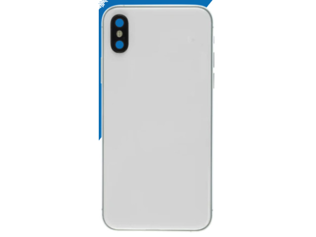 iPhone XS Compatible Housing with Back Glass cover, Charging Port and Power Volume Flex Cable - 1