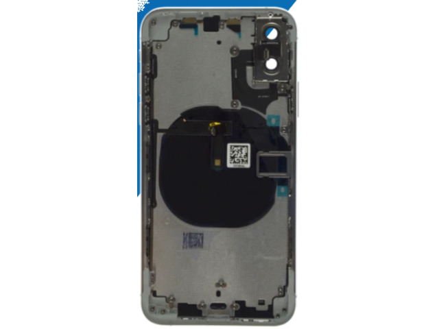 iPhone XS Compatible Housing with Back Glass cover, Charging Port and Power Volume Flex Cable - 3