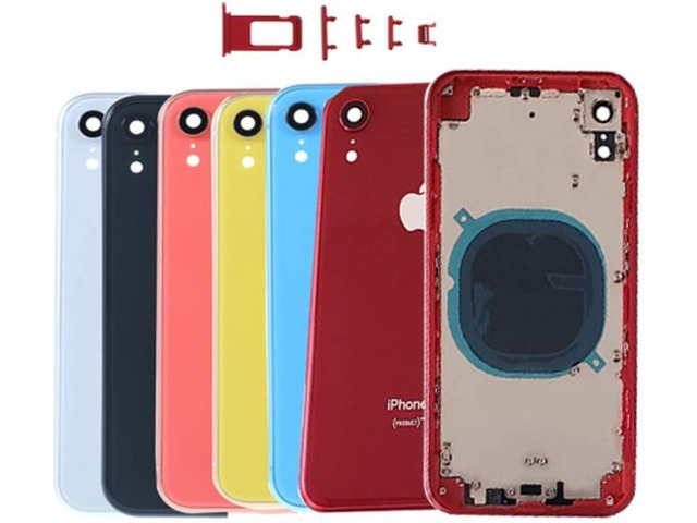 iPhone XR Compatible Housing with Back Glass cover, Charging Port and Power Volume Flex Cable - 1