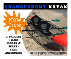 Transparent Kayak Fishing Ocean Canoe 2 Person Seater Boat