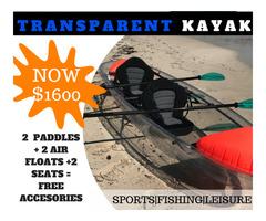 Transparent Kayak Fishing Ocean Canoe 2 Person Seater Boat