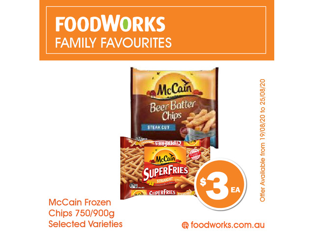 McCain Frozen Chips For Sale FoodWorks Clovelly - 1