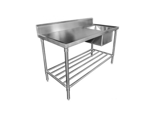 Stainless steel benches with splashback supplier in NSW - 1