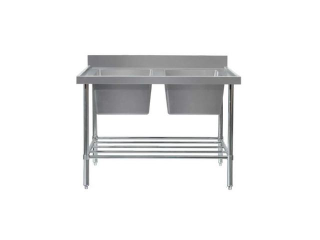 Stainless steel benches with splashback supplier in NSW - 2