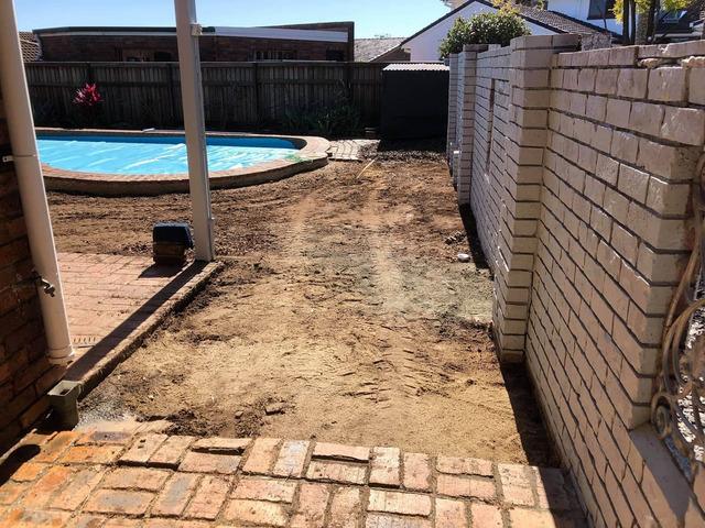 Concrete preparation at Carseldine, Brisbane - Rogers Little Loaders. - 2