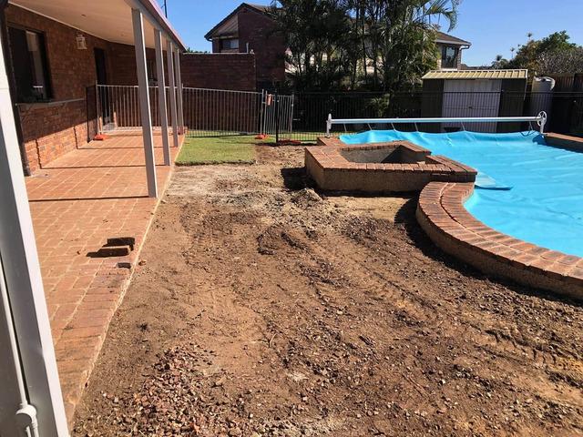 Concrete preparation at Carseldine, Brisbane - Rogers Little Loaders. - 4